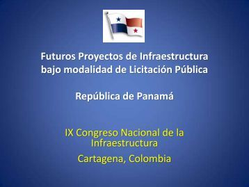 Futuros Proyectos de Infraestructura bajo modalidad de Licitación ...