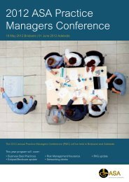 2012 ASA Practice Managers Conference - Australian Society of ...