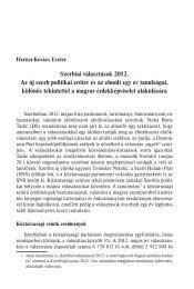Szerbiai választások 2012. Az új szerb politikai erőtér és az elmúlt ...