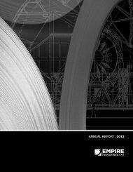 ANNUAL REPORT | 2012 - Empire Industries