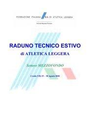 Raduno Regionale MEZZOFONDO a Crodo - Fidal Piemonte