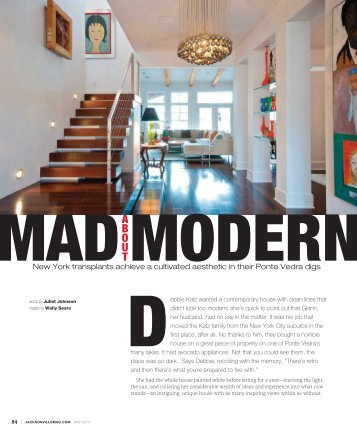Jacksonville Magazine Clip - Mad About Modern - May 2014