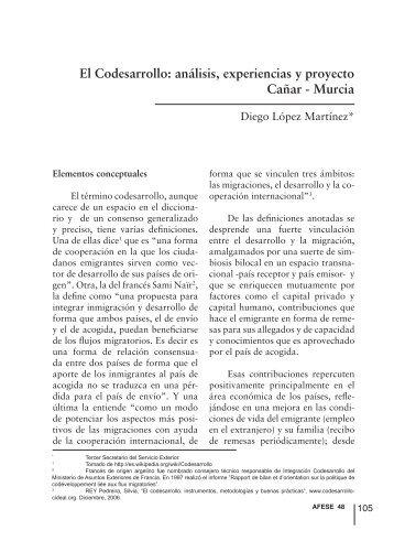 El Codesarrollo: análisis, experiencias y proyecto ... - Afese.com