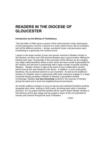 Handbook for Reader Ministry in the Diocese of Gloucester