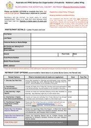Retreat Registration - Sai Australia