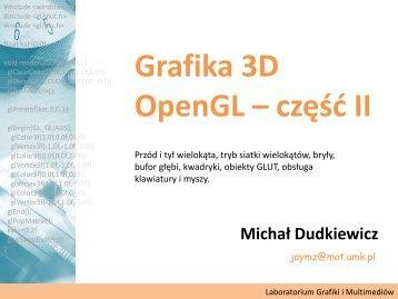 Grafika 3D - OpenGL