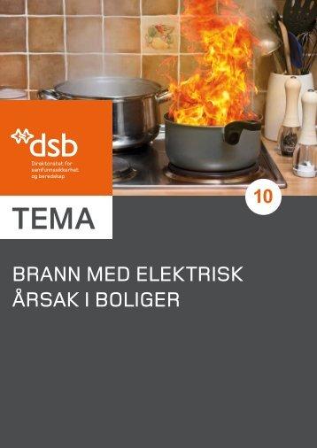 Brann med elektrisk årsak i boliger