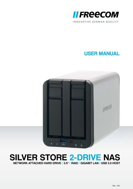 FREECOM SILVER STORE 2-DRIVE NAS DRIVER WINDOWS
