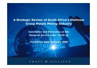 A Strategic Review of South Africa's Platinum Group Metals Mining ...