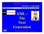 XML - The Next Generation - Corvelle Consulting