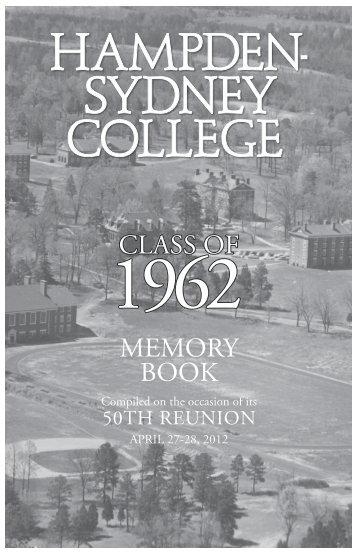 CLASS OF MEMORY BOOK - Hampden-Sydney College