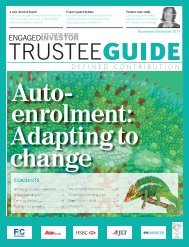 Trustee guide: defined contribution - Engaged Investor