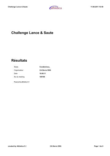 Challenge Lance & Saute - Sierre - FVA