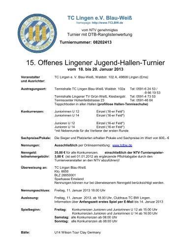 Ausschreibung Jugend 2013 - Region Jade-Weser-Hunte