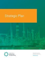 Strategic Plan - Institute for Industrial Productivity