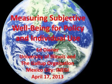 Measuring Subjective Well-Being for Policy and Individual Use - Inegi