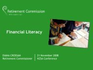 Financial Literacy - New Zealand Society of Actuaries