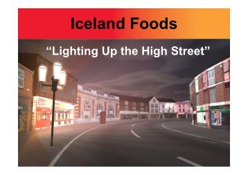Iceland Foods - Retail Knowledge