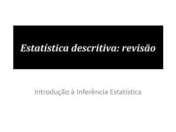 Estatística descritiva: revisão
