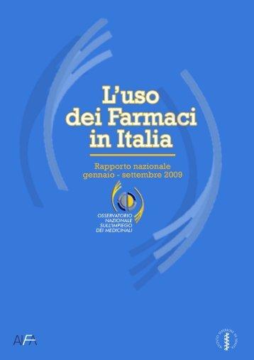 Rapporto OsMed gennaio-settembre 2009 - EpiCentro - Istituto ...