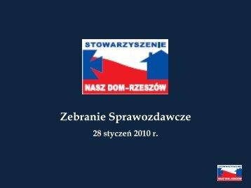 Promocja Rzeszowa i regionu - Stowarzyszenie Nasz Dom-Rzeszów
