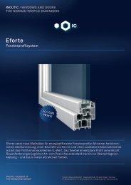 Datenblatt Fensterprofilsystem Eforte - Inoutic
