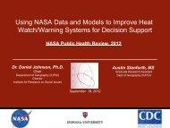 Using NASA Data and Models to Improve Heat Watch/Warning ...