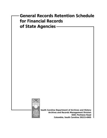 General Records Retention Schedules for Financial Records