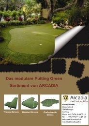 Das modulare Putting Green Sortiment von ARCADIA - Arcadia Golf