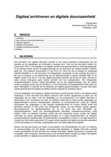 Digitaal archiveren en digitale duurzaamheid - Expertisecentrum ...