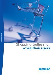 Shopping trolleys for wheelchair users - Expedit