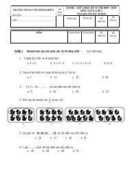 Đề kiểm tra giữa kỳ 2 lớp 2 - Nguyễn Bỉnh Khiêm