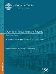 Questioni di Economia e Finanza - Dipartimento di Economia