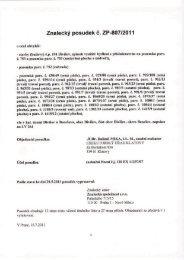 Znalecký posudek č. ZP-80712011 - OKdrazby.cz