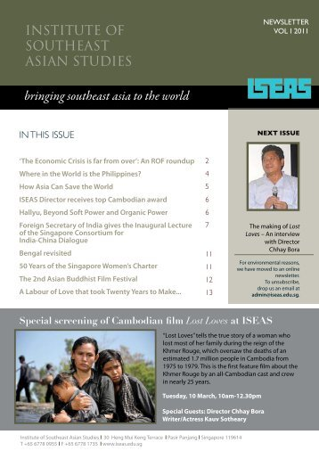 ISEAS News, Vol I, February 2011 - Nalanda-Sriwijaya Centre