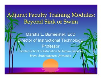 View my presentation here - Fischler School - Nova Southeastern ...