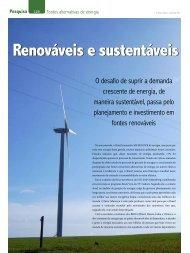 Renováveis e sustentáveis - Revista O Setor Elétrico