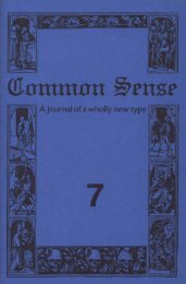 Download this issue - Common Sense