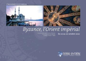 Croisière Byzance, l'Orient impérial (plaquette pdf) - Terre Entière