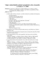 Zápis z mimořádného jednání zastupitelstva obce ... - Svitávka