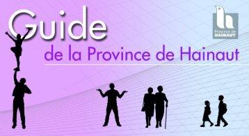 guide horiz - La Province de Hainaut