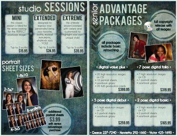 studio SEssions advantage packages - Clix Portrait Studios