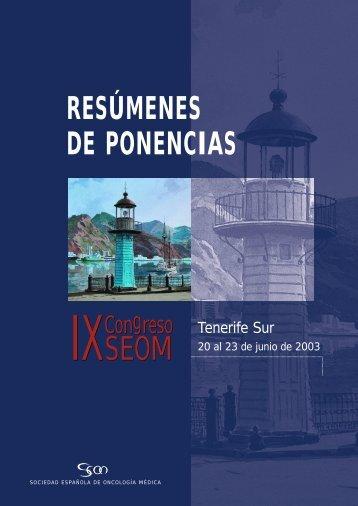 Resúmenes de Ponencias - Sociedad Española de Oncología Médica