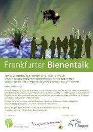 Frankfurter Bienentalk - Zoo Frankfurt
