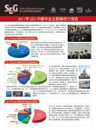 2011年SEG 中國畢業生數據統計報告 - SEG瑞士酒店管理教育集团