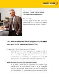 """""""Das internationale Geschäft ermöglicht längerfristiges Wachstum ..."""