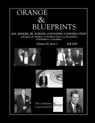 orange blueprints - M E Rinker Sr School of Building Construction ...