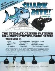GT Shark Bite Sales Lit - Green-Tek
