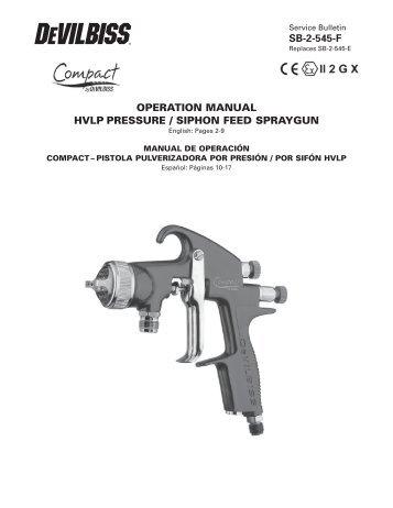 sb-2-545-f operation manual hvlp pressure / siphon feed ... - DeVilbiss