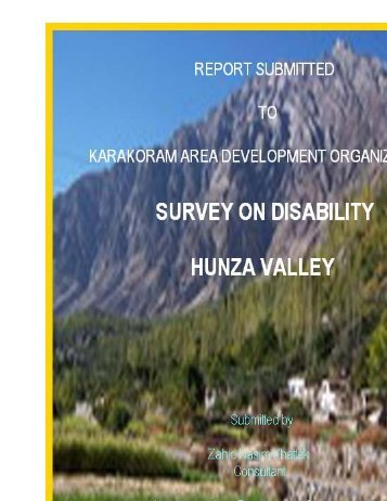 survey on disability hunza valley - KADO